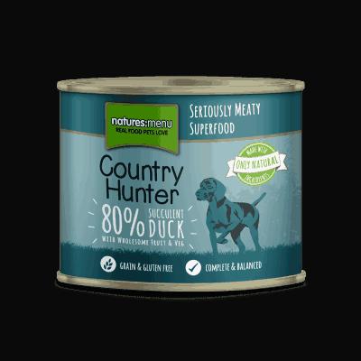Kacsahúsos-Szilvás Párolt Konzerv Eledel Kutyáknak, Country Hunter