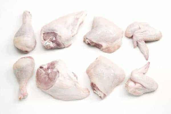 Vegyes csirke darabok