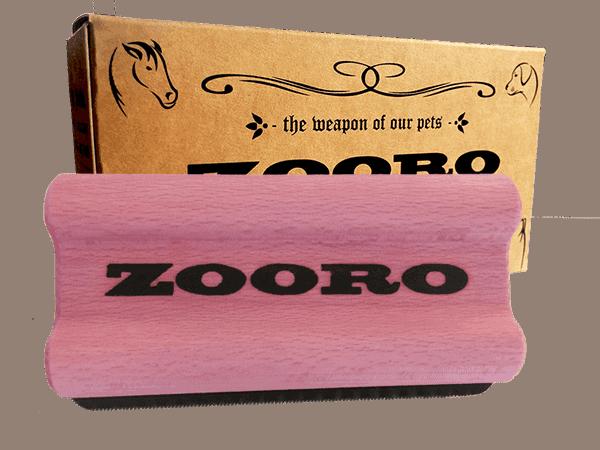 Zooro szőreltávolító kefe, habcsók rózsaszín