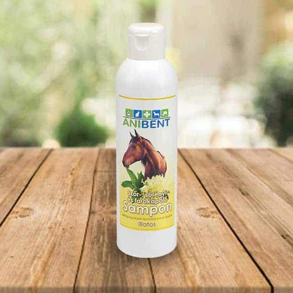 Bodzavirág illatú szőr-, sörény-, és farokápoló lósampon, Anibent