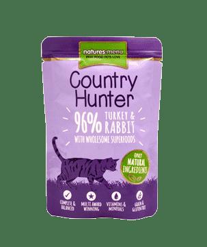 Country Hunter Pulyka-Nyúl Párolt Eledel Macskáknak