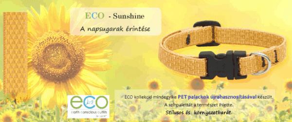Lupine ECO újrahasznosított nyakörv kutyáknak – Sunshine