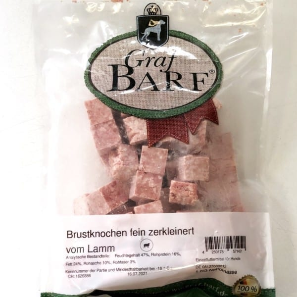 Darált bárányszegycsont, Graf Barf