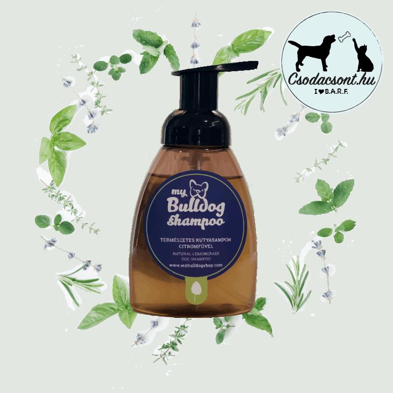 Természetes Kutyasampon Citromfű illóolajjal, My Bulldog Shampoo