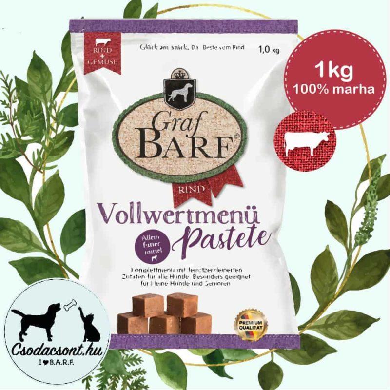 Pastete Teljes értékű Marhamenü 1kg, GRAF BARF
