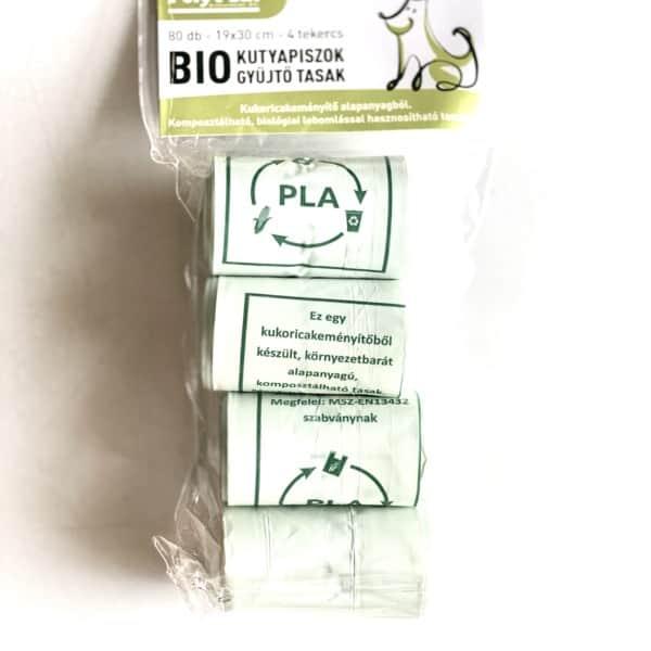 Bio Kutyapiszok Gyűjtő Tasak (4 tekercs, 80db), Poly-Pack