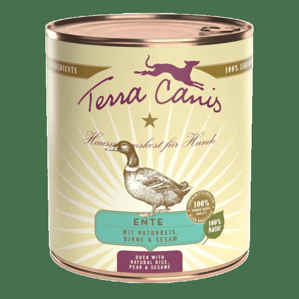 Kacsa barna rizzsel, céklával, körtével és szezámmal, Terra Canis, Nedves Táp, Konzerv