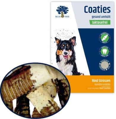 Coaties Marhalégcső Sütőtökös-Sárgarépás bevonattal, Blue Tree